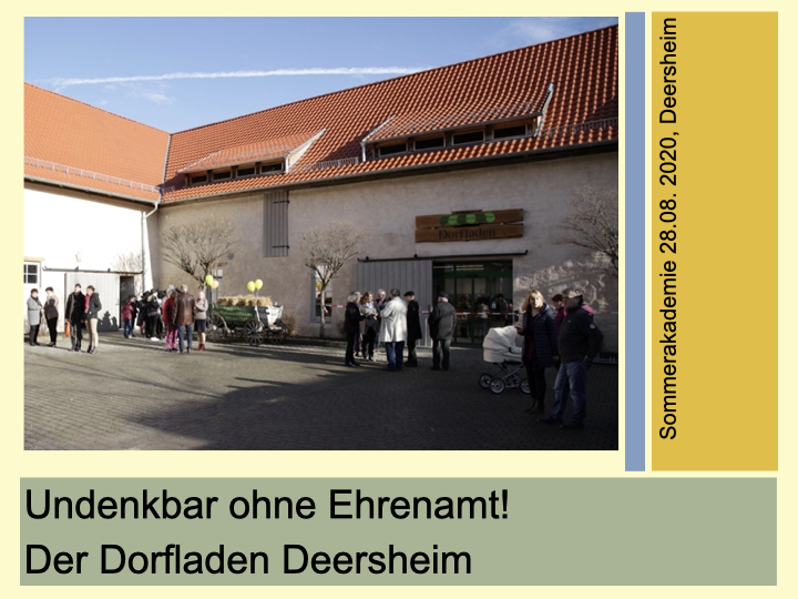 Präsentation Deersheim Dorfladen